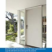 Puerta metálica Laura 0.90x2.10m apertura derecha galvanizada calibre 20 - Blanca
