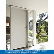 Puerta metálica Laura 0.90x2.10m apertura izquierda galvanizada calibre 20 - Blanca