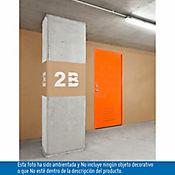 Puerta metálica Evita 0.80x2.10m apertura derecha galvanizada calibre 20