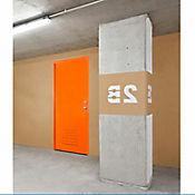 Puerta metálica Evita 0.80x2.10m apertura izquierda galvanizada calibre 20