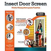 Pantalla antimosquito para puerta 215x100cm marco negro