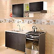 Cocina 1.20 metros Élica con mesón y lavaplatos - Wengue