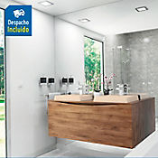 Kit lavamanos Ankara marfil con mueble greco Rh 120x51 cm Avellana
