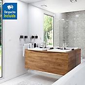 Kit lavamanos Sahara blanco con mueble greco Rh 120x51 cm Avellana
