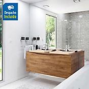 Kit lavamanos Sahara marfil con mueble greco Rh 120x51 cm Avellana