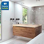 Kit lavamanos Siena marfil mueble greco Rh 120x51 cm Avellana