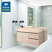 Kit lavamanos Oslo marfil con mueble Vitelli Rh 100x50 cm Latte