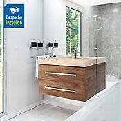 Kit lavamanos Bari marfil con mueble Misus Rh 100x50 cm Avellana