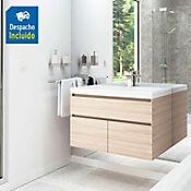 Kit lavamanos Bari blanco con mueble Macao Rh 79x48 cm Latte