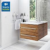 Kit lavamanos Parma blanco con mueble Misus Rh 63x48 cm Avellana