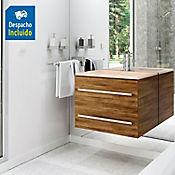 Kit lavamanos Trentino marfil con mueble Misus Rh 63x48 cm Avellana