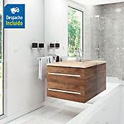 Kit lavamanos Barcelona marfil con mueble Misus Rh 63x48 cm Avellana