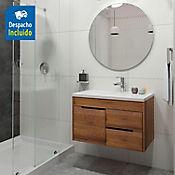 Kit lavamanos Parma blanco con mueble ele Tiziano 79x48 cm Amaretto