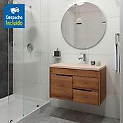 Kit lavamanos Parma bone con mueble ele Tiziano 79x48 cm Amaretto