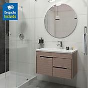 Kit lavamanos Parma blanco con mueble Tiziano Rh 79x48 cm Serena