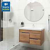 Kit lavamanos Bari blanco con mueble Tiziano 79x48 cm Amaretto