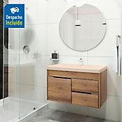 Kit lavamanos Bari bone con mueble Tiziano 79x48 cm Amaretto