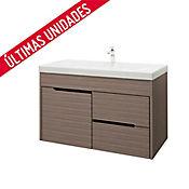 Kit lavamanos Bari blanco con mueble Tiziano Rh 79x48 cm Serena