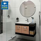 Kit lavamanos Parma blanco 63x48 cm con mueble Vivaldi Rh 81x48 cm