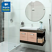 Kit lavamanos Bari blanco 63x48 cm con mueble Vivaldi Rh 81x48 cm
