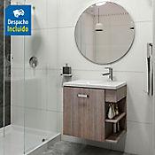 Kit lavamanos Parma blanco con mueble Gaudi 63x48 cm Capuccino