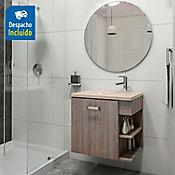 Kit lavamanos Parma bone con mueble Gaudi 63x48 cm Capuccino