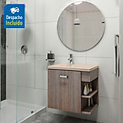 Kit lavamanos Venecia bone con mueble Gaudi 63x48 cm Capuccino