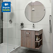 Kit lavamanos Trentino blanco con mueble Gaudi 63x48 cm Capuccino