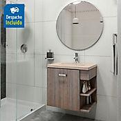 Kit lavamanos Barcelona bone con mueble Gaudi 63x48 cm Capuccino