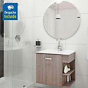 Kit lavamanos Quadratto blanco con mueble Gaudi 63x48 cm Capuccino