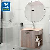 Kit lavamanos Quadratto bone con mueble Gaudi 63x48 cm Capuccino