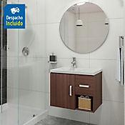 Kit lavamanos Venecia blanco con mueble Monet ele 63x48 cm Nuez