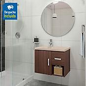Kit lavamanos Venecia bone con mueble Monet ele 63x48 cm Nuez