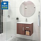 Kit lavamanos Trentino blanco con mueble Monet ele 63x48 cm Nuez