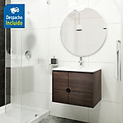 Kit lavamanos Trentino blanco con mueble Dalí 63x48 cm Tabaco chic