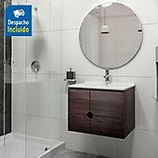 Kit lavamanos Quadratto blanco con mueble Dalí 63x48 cm Tabaco chic