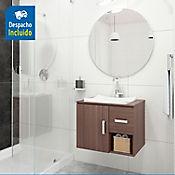 Kit lavamanos Sahara blanco con mueble Monet ele Rh 63x48 cm Nuez
