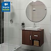 Kit lavamanos Ankara blanco con mueble Monet Rh 63x48 cm Nuez