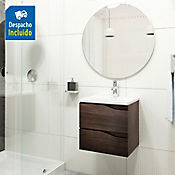 Kit lavamanos Rio blanco con mueble Picasso 48x43 cm Tabaco chic