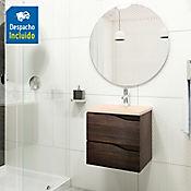 Kit lavamanos Rio bone con mueble Picasso 48x43 cm Tabaco chic