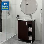 Kit lavamanos Parma blanco con mueble piso plus 63x48 cm Wengue