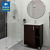 Kit lavamanos Trentino blanco con mueble piso plus 63x48 cm Wenge