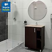 Kit lavamanos Trentino bone con mueble piso plus 63x48 cm Wengue