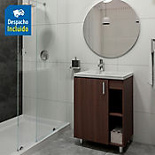 Kit lavamanos Venecia blanco con mueble piso plus 63x48 cm Nuez