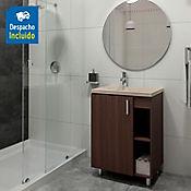 Kit lavamanos Venecia bone con mueble piso plus 63x48 cm Nuez