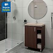 Kit lavamanos Bari bone con mueble piso plus 63x48 cm Nuez