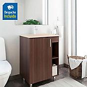 Kit lavamanos Trentino bone con mueble piso plus 63x48 cm Nuez