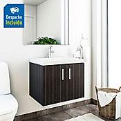 Kit lavamanos Parma blanco con mueble basic ele 63x48 cm Salvaje