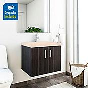 Kit lavamanos Parma bone con mueble basic ele 63x48 cm Salvaje