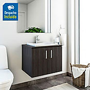 Kit lavamanos Sahara blanco con mueble basic Rh 60x50 cm Salvaje